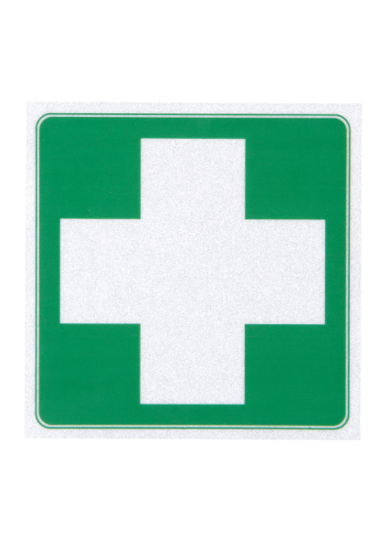 First Aid Cross Square Sticker