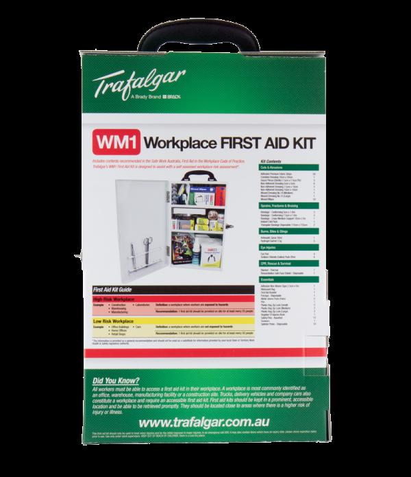 WM1 Workplace First Aid Kit Wallmount - Metal Case