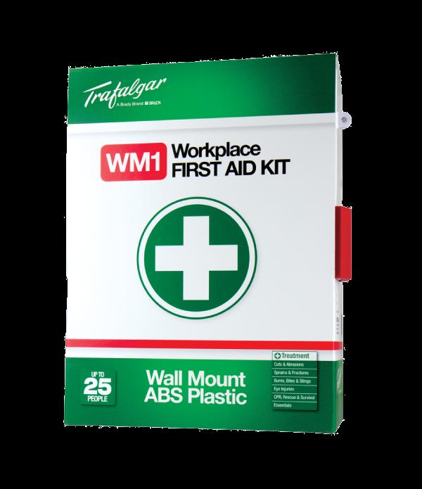 WM1 Workplace First Aid Kit Wallmount - Plastic Case