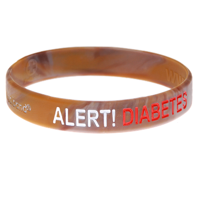胰岛素依赖糖尿病-迷彩医疗身份证手环