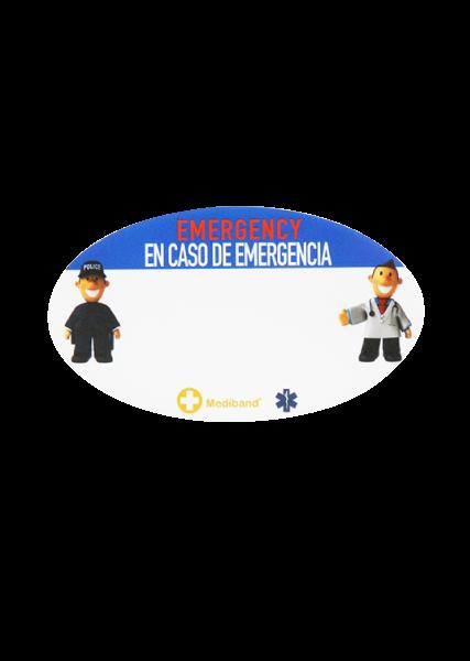 Kids Travel Stickers - Blue Spanish/English