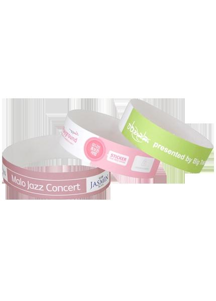 Custom Colour Inkjet Tyvek wristbands