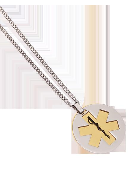 Stainless Steel Brass Pivot Pendant - Blank