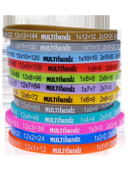 Multibandz - Mathematics Times Table Wristbands