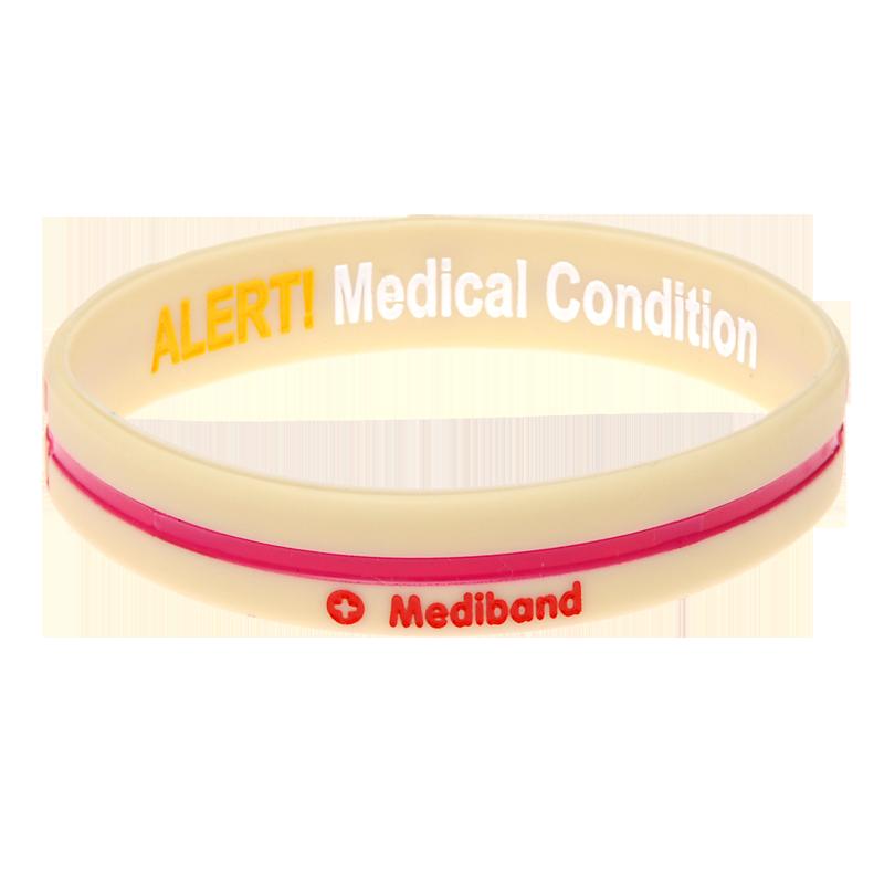 Cream Cross - Reversible Write On Medical Bracelet