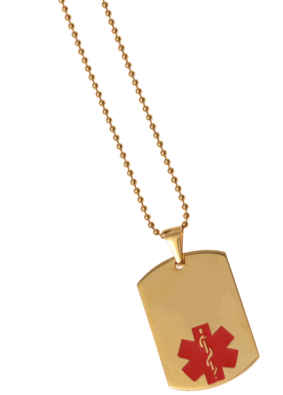 Red Gold Dog Tag Blank