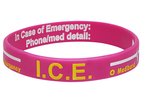 Pink ICE - Reversible Write On Medical ID Bracelet