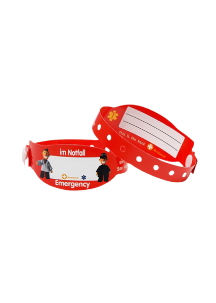 Kids Travel Wristbands - German