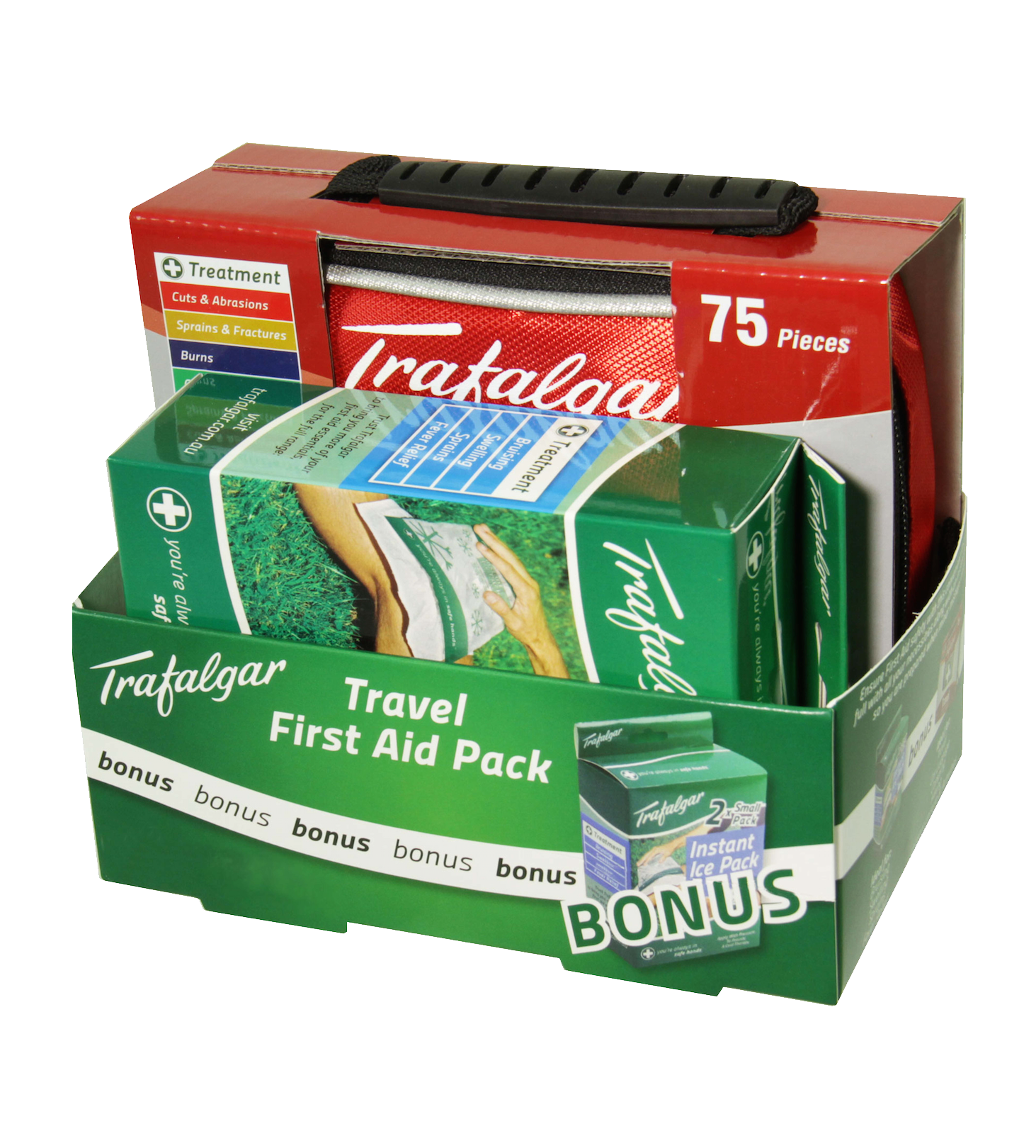 Trafalgar Travel First Aid Kit + FREE Instant Ice Pack
