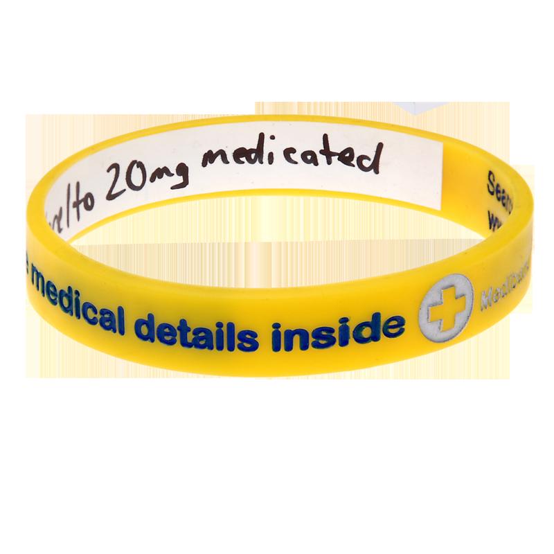 Medical Condition - Reversible Write On Medical Bracelet
