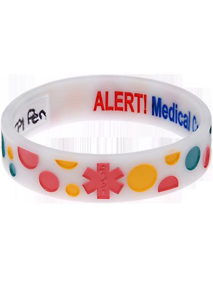 Bubbles - Reversible Write On Medical Bracelet