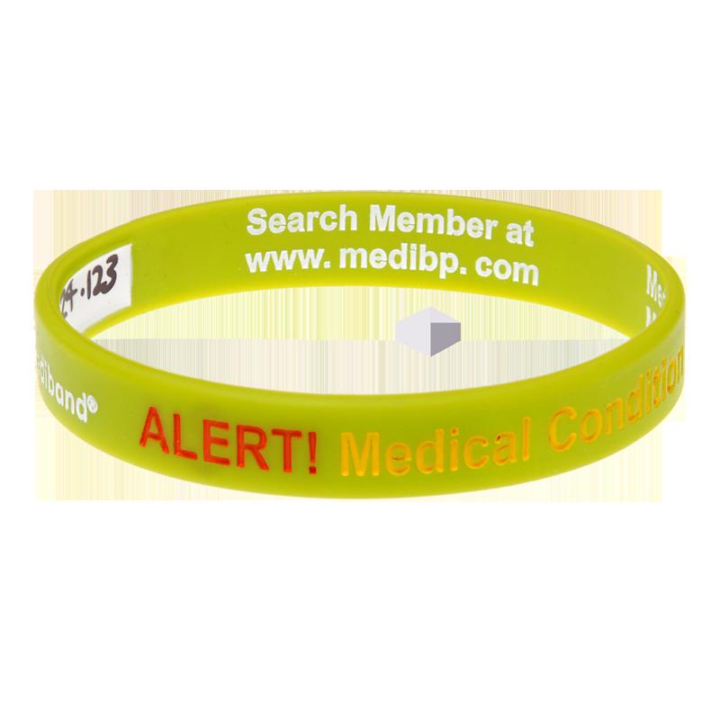 Neon Medical Condition Alert - Reversible Write On Medical Bracelet