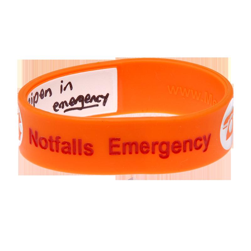 Kid's Write On Travel ID Bracelet - Orange