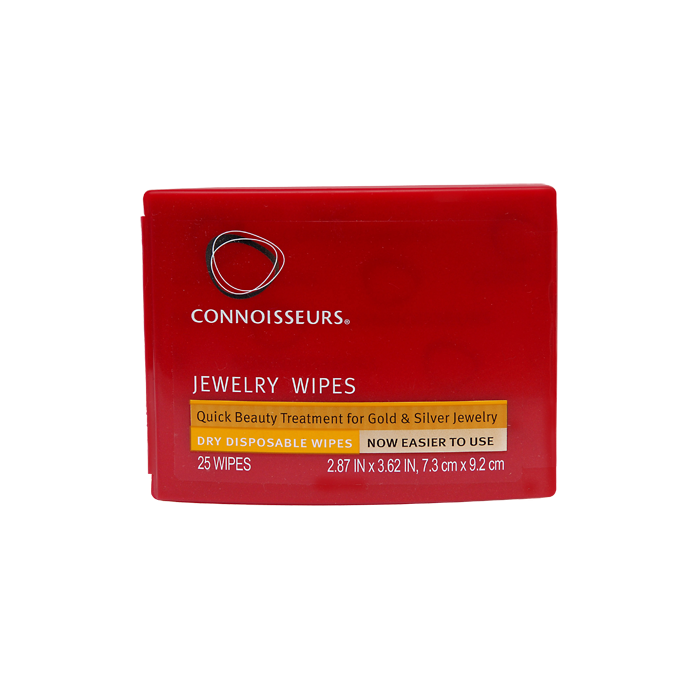 Wipe Cleaner Jewelry Gold And Silver 25 Wipes Connoisseurs